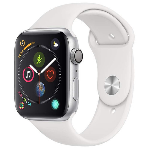 44mm Apple Watch Series 5. Silver Alu Case with White Sports Band. GPS Only