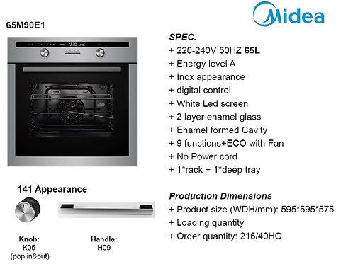 MIDEA ELECTRIC OVEN 9 FUNCTIONS INOX. MODEL 65M90EI
