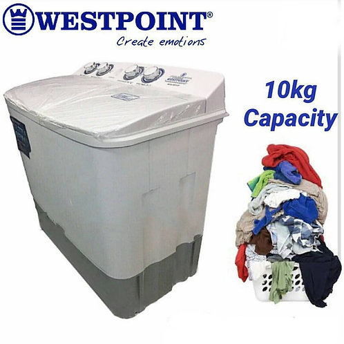 10 Kgs Twin Tub Westpoint with Pump. Model number WTX1017