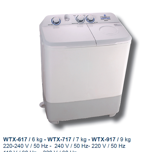 7 Kgs Twin Tub Westpoint with Pump . Model number WTX717