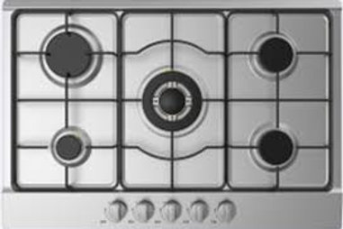 MIDEA 5 GAS BURNERS 75 CMS. INOX. MODEL MG75005TX-MT