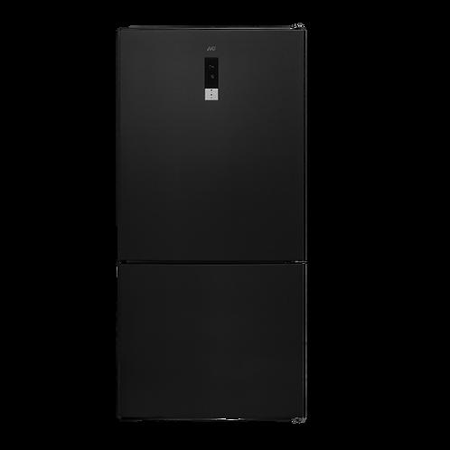 Fridge Freezer Non Frost . 84 cms Width. Model number AVG 653A. Black Inox