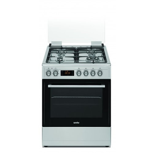 SIMFER ELECTRIC OVEN WITH GAS HOB. INOX. MODEL 6406