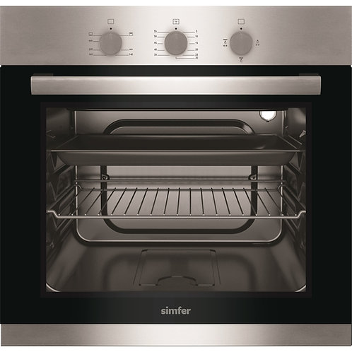 BUILT IN GAS OVEN SIMFER . 60 CMS . VENTILATED. MODEL 6003 NGRIG. INOX