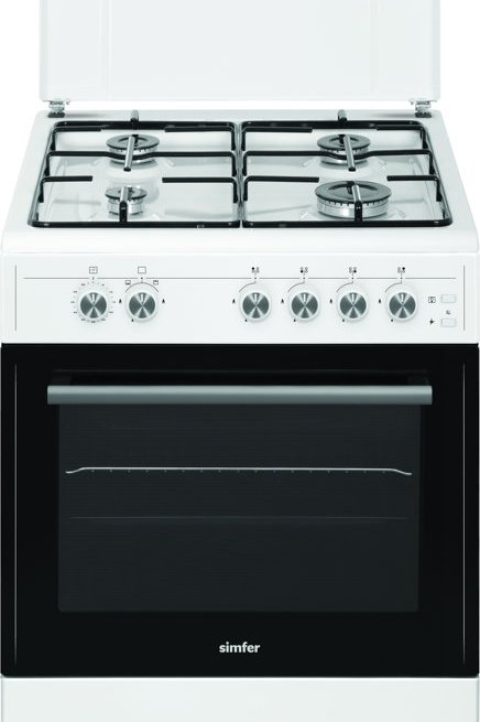 SIMFER 60 X 60 GAS COOKER . SMART CLIP SYSTEM. MODEL MFT1-6402SGRBB-I