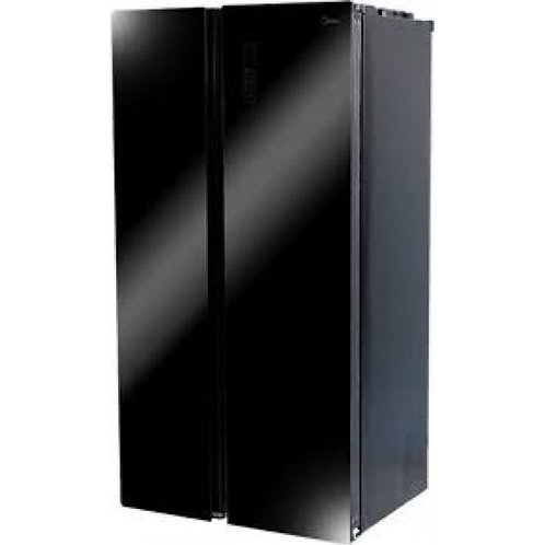 MIDEA AMERICAN STYLE FRIDGE FREEZER. NON FROST. MODEL 689. BLACK