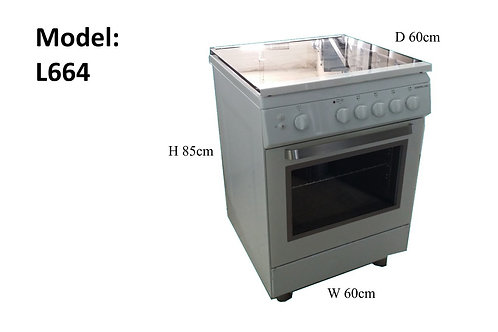 TECNOGAS 60 X 60 GAS COOKER WITH FAN ASSISTED AND GRILL. MODEL L664GWV. WHITE