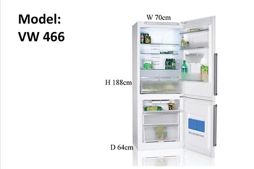 FRIDGE FREEZER. NON FROST . A+. MODEL 466. WHITE