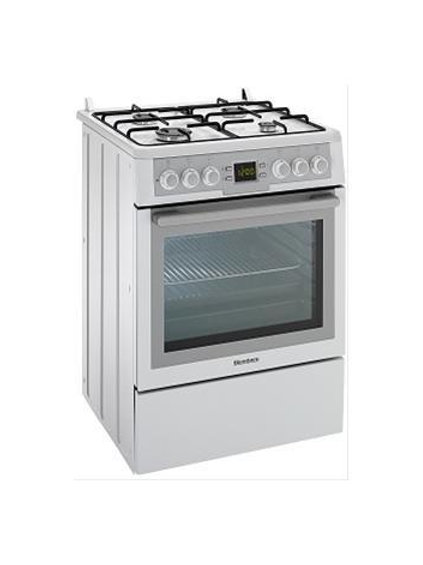 Blomberg Gas Hob with Electric Oven . White. Model number HGN9325A
