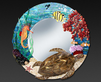 Miroir Mosaique Ocean Indien