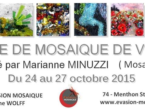 Evasion Mosaïque recevra pour la 3ème fois Marianne Minuzzi pour un stage de verre planté du 24 au 2
