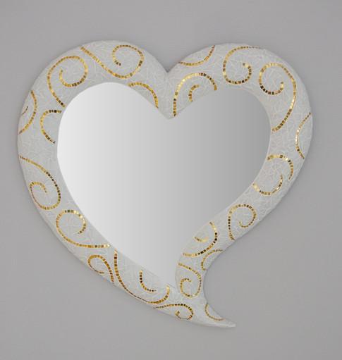 Miroir mosaque coeur arum
