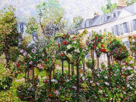 Dernière création de Marianne Minuzzi ! D'après le jardin de roses à Wargemont, de Renoir, Incro