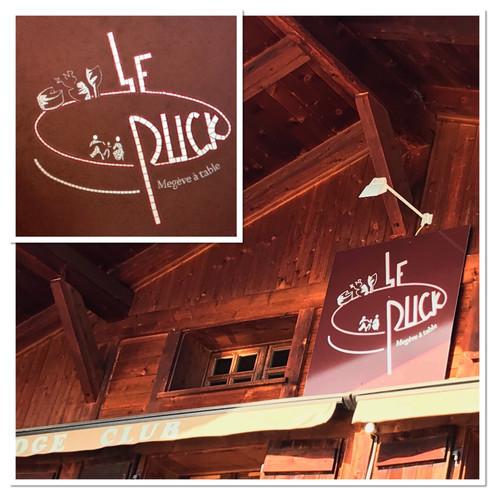 Enseigne mosaique de restaurant le Puck à Megève