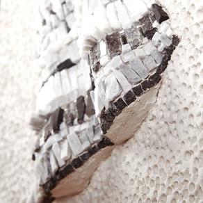 Tessuto, mosaique de marbre et miroir