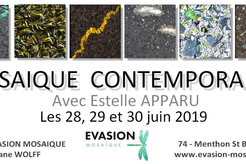 Stage de mosaique contemporaine, Evasion Mosaïque, Estelle Apparu, Haute Savoie, Annecy