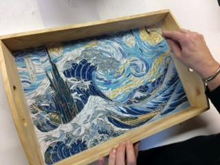 Andrée s'inspire de Hokusai et de Van gogh...