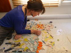Mosaique en cours de réalisation