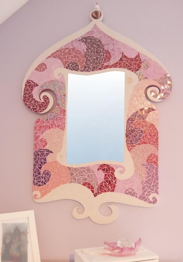 Rêves et Nuages Blancs Miroir Mosaique