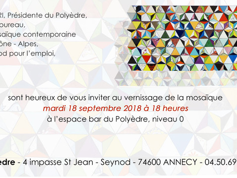Inauguration de la fresque collective au Polyèdre à Annecy