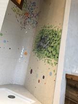 La douche en mosaïque