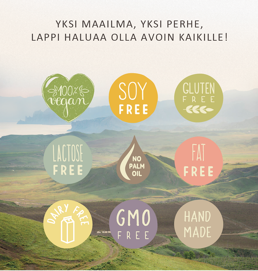 vegaaninen jäätelö, maidoton jäätelö, gluteeniton jäätelö, jäätelö, jäätelötehdas, irtojäätelö, laktoositon jäätelö, rasvaton jäätelö, sokeiton jäätelö