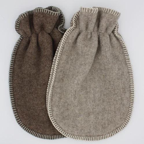 Wärmflaschenhülle reine Schurwolle von Wollzeit