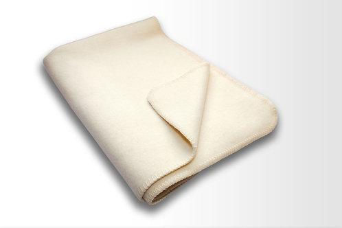 Wolldecke aus reiner Schurwolle in wollweiß von Wollzeit