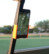 Phone Caddy on Cart with Grint Closeup N