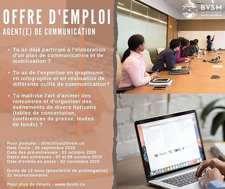OFFRE D'EMPLOI Agent(E) de communication