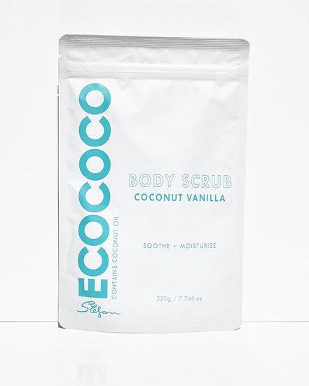 Ecococo Coconut Vanilla Body Scrub Front View