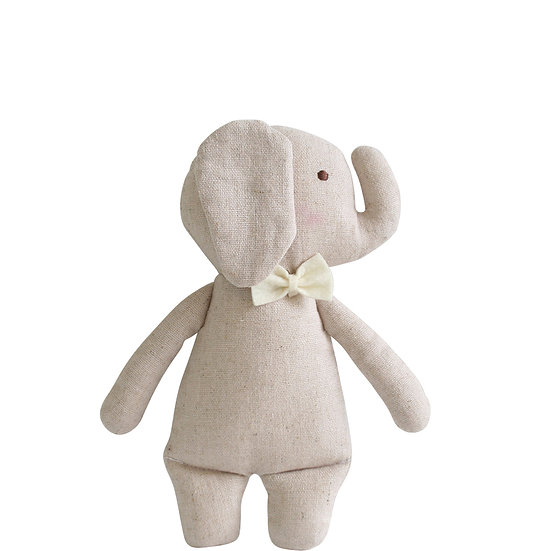 Alimrose Grey Elephant Rattle Front View