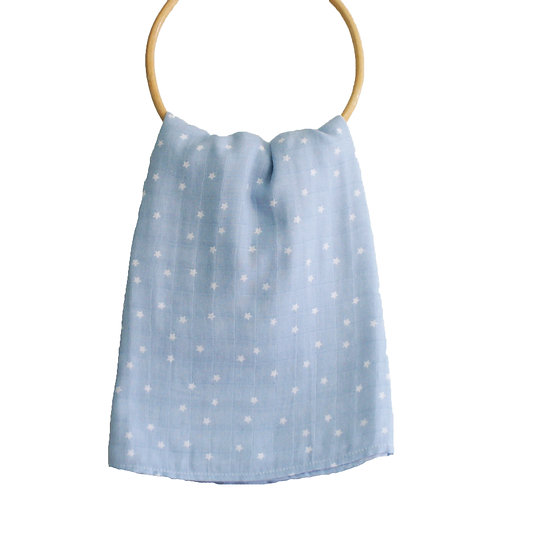 Alimrose Blue Swaddle Front View
