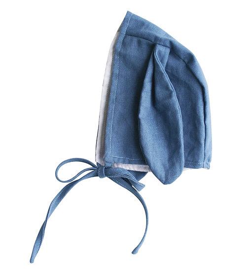 Alimrose Blue Bunny Bonnet Front View