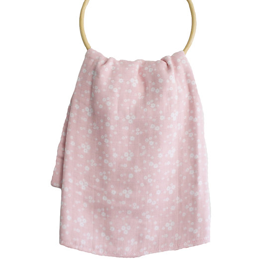 Alimrose Pink Daisy Swaddle Front View