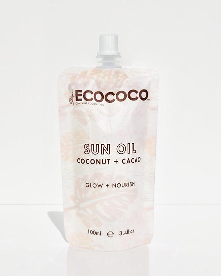 Ecococo Sun Tan Oil Front View