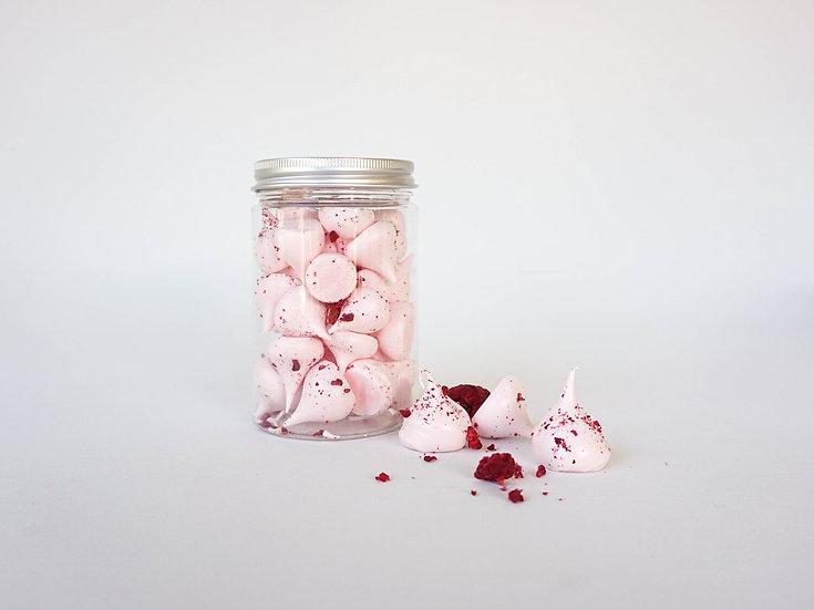 K Cake Dessert Raspberry Meringue Kisses Front View