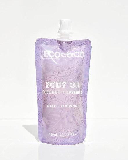 Ecococo Lavender Body Oil Front View