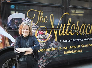 Laura and Nutcracker bus.jpg