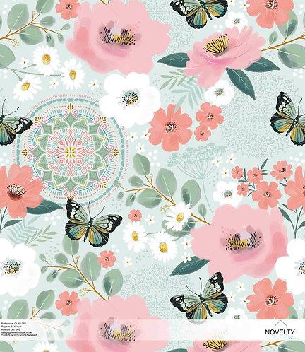 CLAN066 Flowers & butterflies