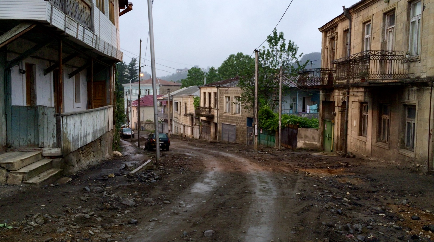 Our hostel's street in Kutaisi