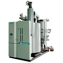 Промышленный скоростной вертикальный водотрубный парогенератор Daeyeol Boiler модель DRH со встроенным экономайзером производительность 500 - 4 000 кг/ч