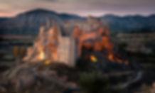 Castillo de Zorita de los Canes iluminado