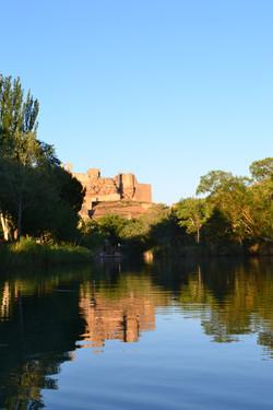 Castillo de Zorita desde el Tajo