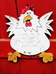 Door to Chicken Coop
