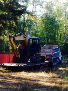 bringing in the heavy equipment