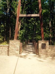 Suspension bridge at BBG