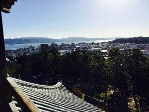 View from the top of Matsue Castle