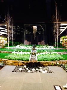 white formal garden