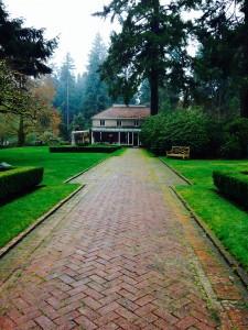 Long walk at Lakewold Garden